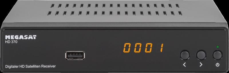 MEGASAT HD 370 Schwarz HD Receiver mit USB 2.0 Scart HDMI