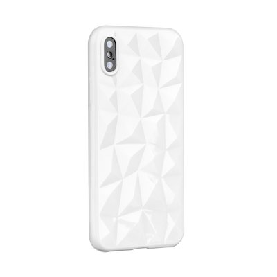 HUAWEI MATE 20 LITE  FORCELL PRISMA WEISS SILIKON CASE COVER BUMPER ETUI