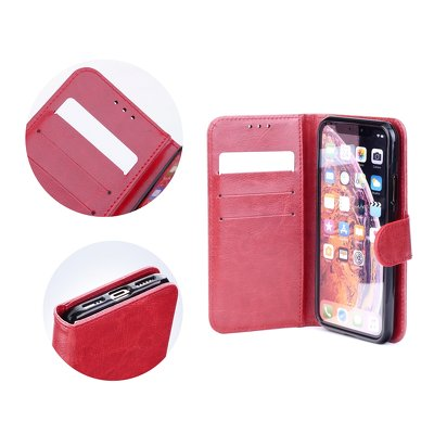 HUAWEI MATE 20 LITE FORCELL TWIN 2 IN 1 CASE ROT LEDER  ETUI WALLET BOOK CASE