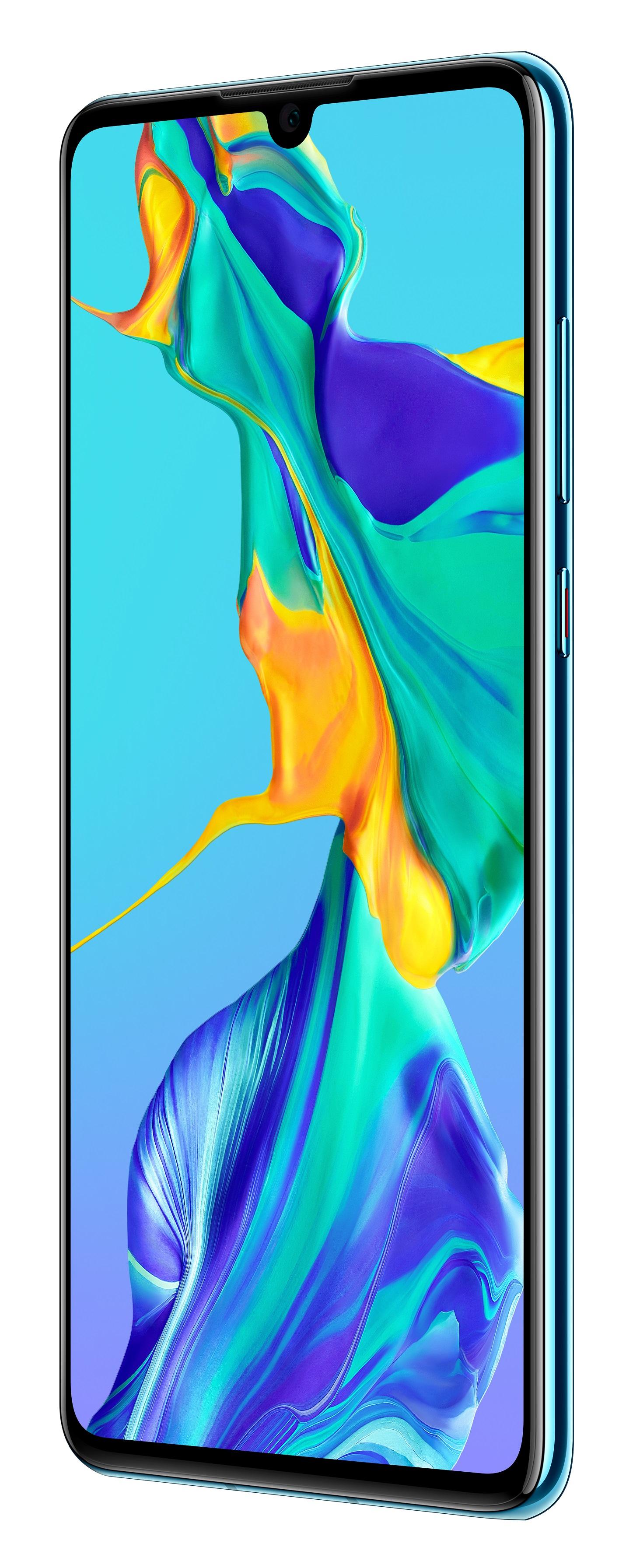 Huawei P30 blau Telekom - Dual SIM, Android 9.0 (Pie), 128 GB, BRANDNEU
