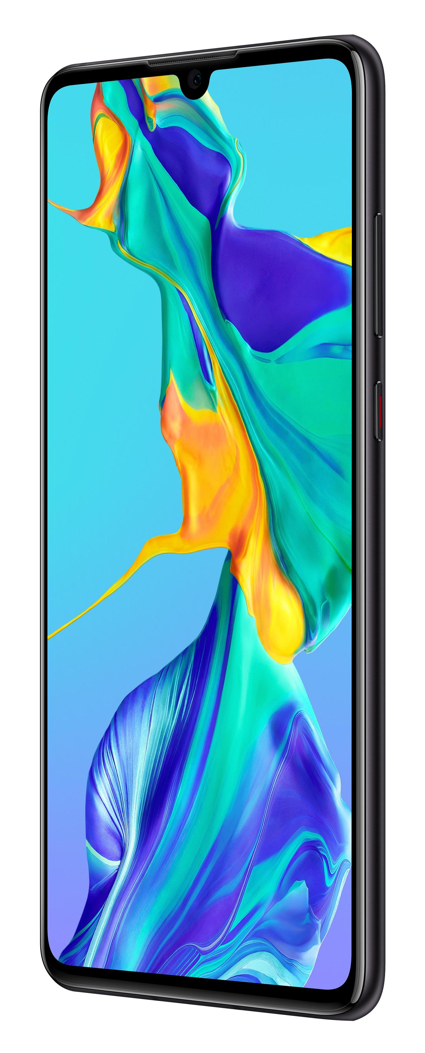 Huawei P30 schwarz - Dual SIM, Android 9.0 (Pie), OLED-Display, BRANDNEU