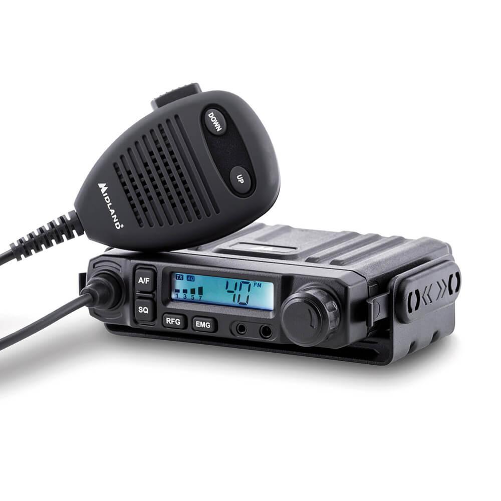 MIDLAND M-Mini Multistandard CB-Funk Mobilfunkgerät mit Anschluss für Headset