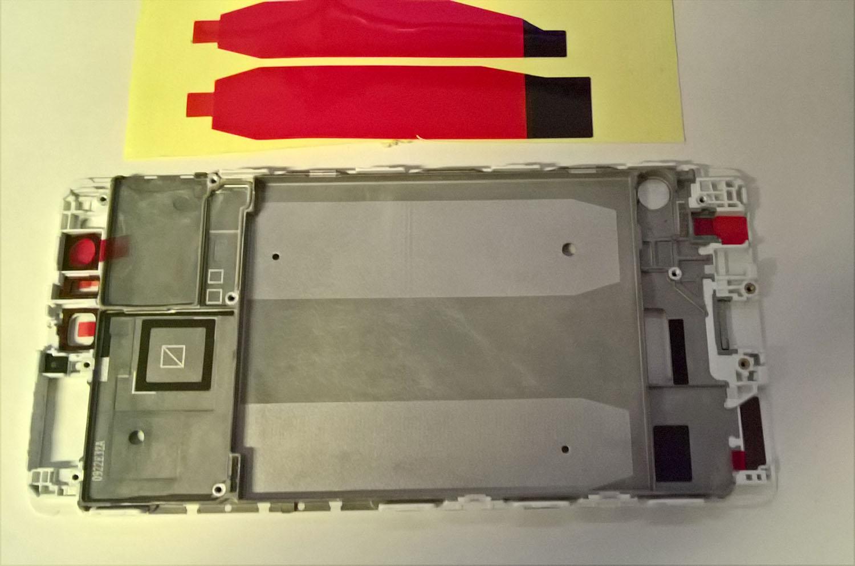 Huawei P9 Plus Front-Cover LCD-Frame LCD-Bracket Display-Rahmen weiß Ersatzteil